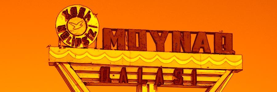 Moynaq, Uzbekistan city sign