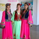 Teenage Girls in Traditional Karakalpak Dress in Moynaq, Uzbekistan
